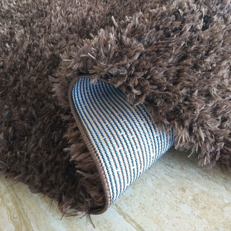 Dywan typu shaggy Merinos - brązowy