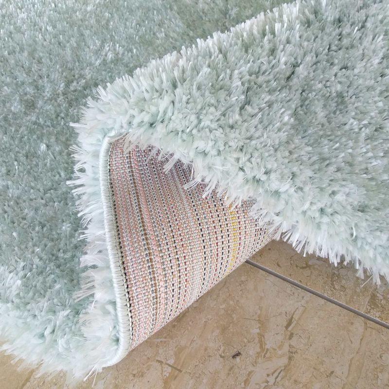 Dywan typu shaggy Merinos - miętowy