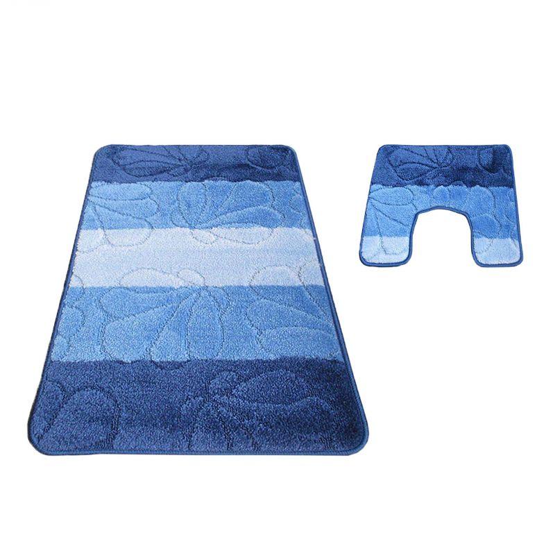 Komplet łazienkowy z wycięciem pod toalete Montana 01 - niebieski