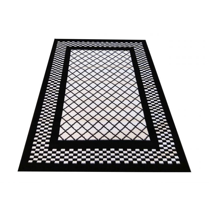 Dywan nowoczesny Soho 03 - czarno - biały