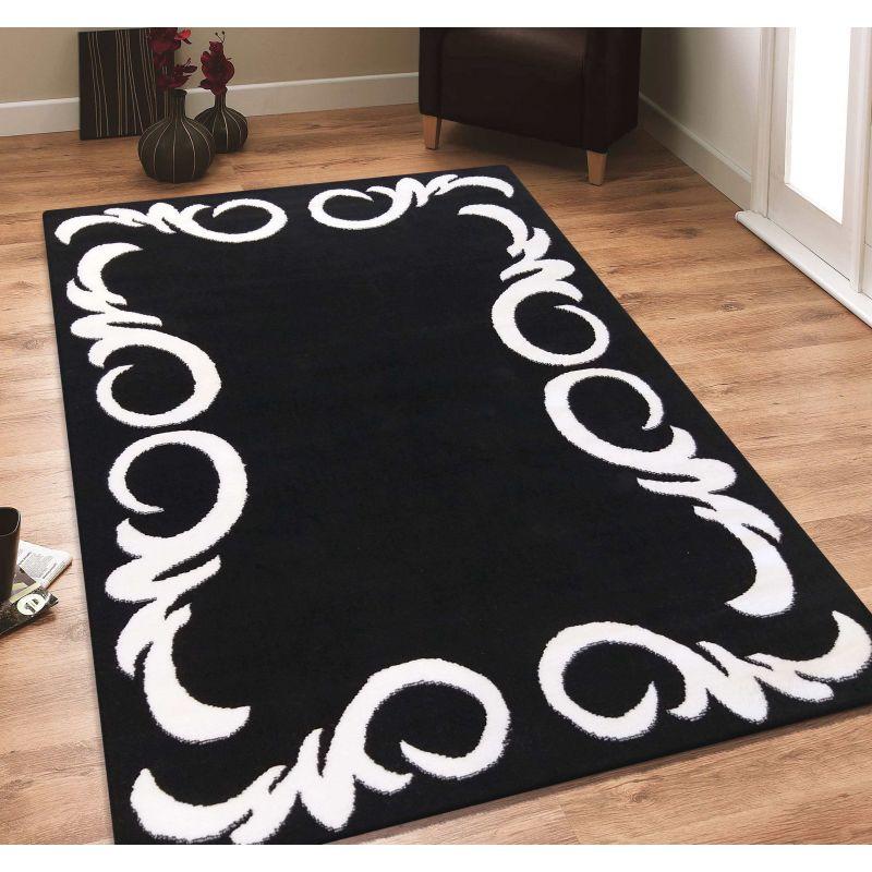 Dywan nowoczesny Soho 02 - czarno - biały