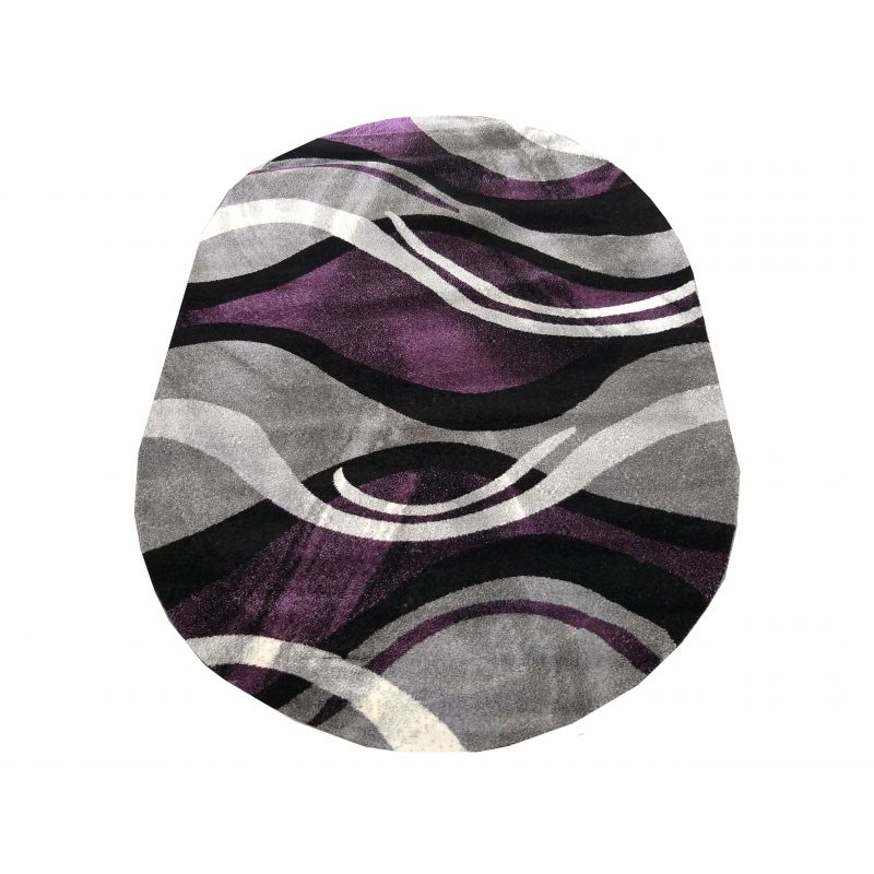 Dywan nowoczesny owalny Fantazja 02 - szaro-fioletowy