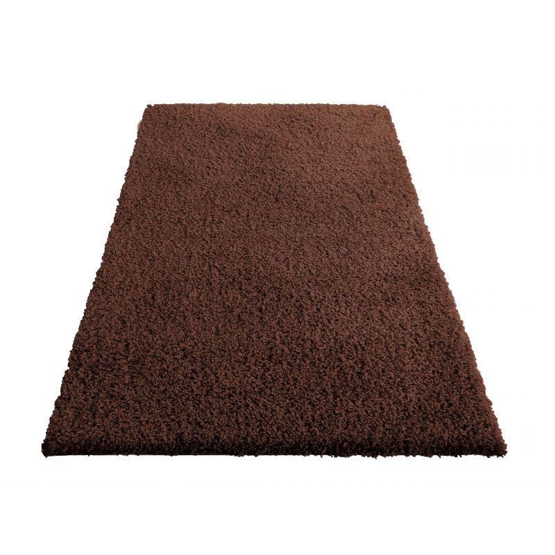 Dywan nowoczesny shaggy jednokolorowy brązowy