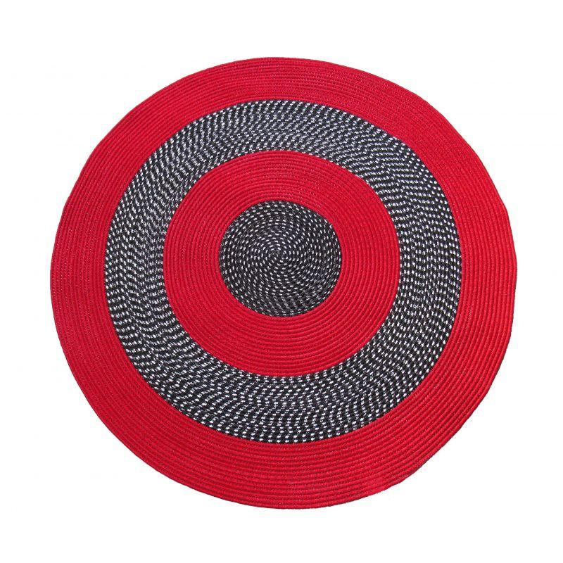 Dywan sznurkowy Maestro koło - czerwony