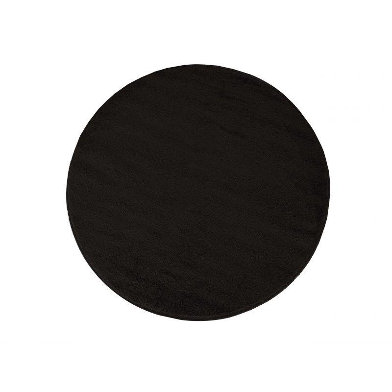 Dywan Portofino koło jednolity czarny