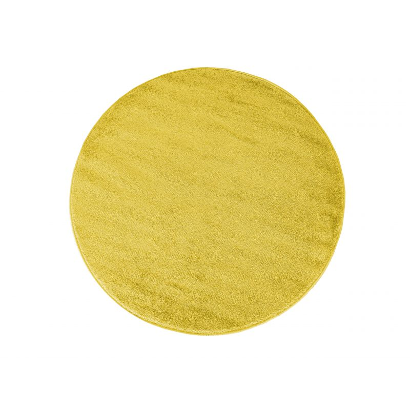 Dywan Portofino koło jednolity żółty