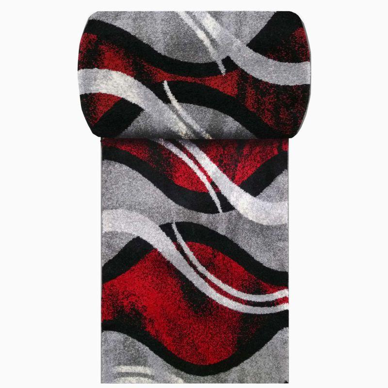 Chodnik Fantazja 02 - szaro - czerwony - szerokość od 60 cm do 120 cm