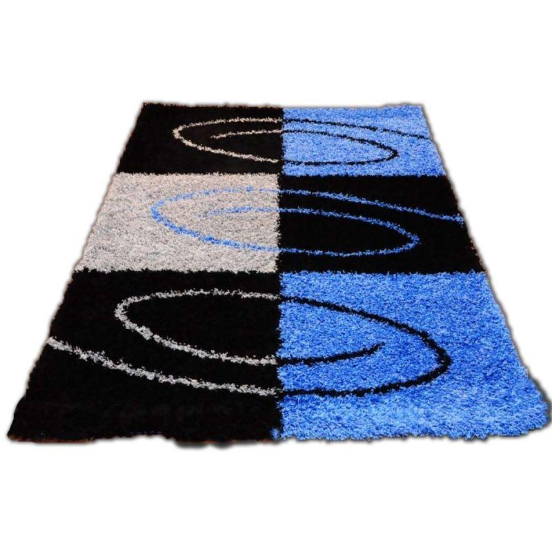 Dywan nowoczesny shaggy 04S niebieski